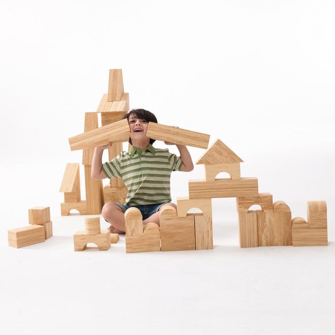 Weplay 软质木纹积木8cm-56件组